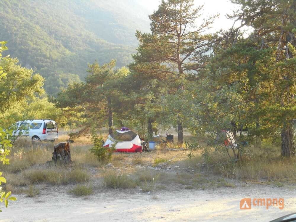 Camping les Fines Roches, Roquestéron, Alpes-Maritimes